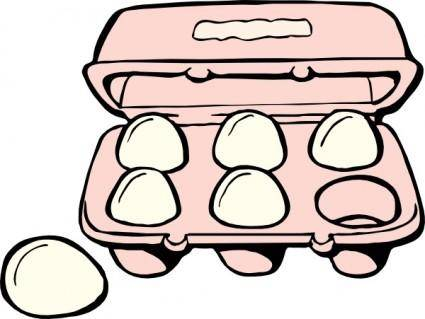free vector Carton Of Eggs clip art