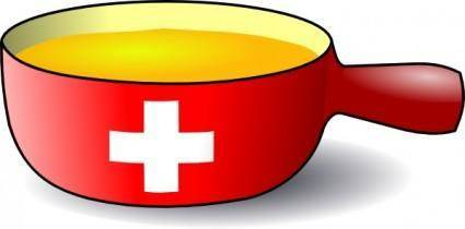 Martouf Swiss Caquelon Fondue clip art