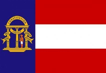 Flag Of The State Of Georgia Coat clip art
