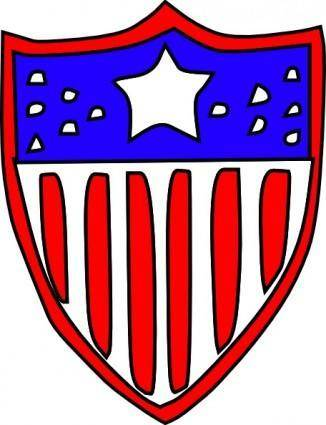 free vector Usa Flag Badge clip art