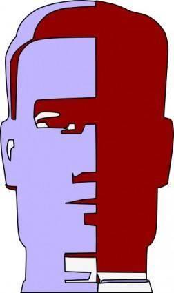 Droid Robot Head Face clip art