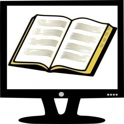 Rfc Book On Monitor clip art