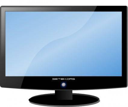 free vector Lcd Widescreen Hdtv Monitor clip art