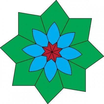 Kaleidoscope clip art
