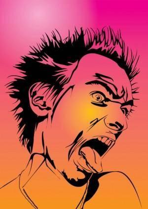 free vector Emo Gothic Punk Metalhead Boy