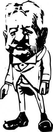 free vector Standing Cartoon Man clip art