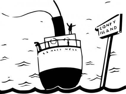 free vector Sailing Ship Cartoon Silhouette clip art