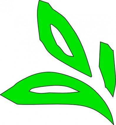 Green Plant Leaves clip art