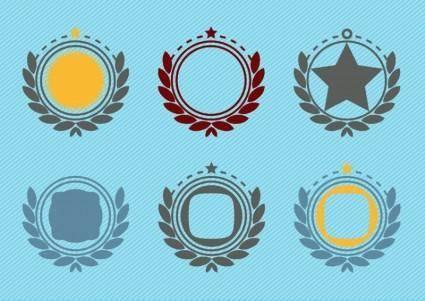free vector Retro Emblem Badge Decorations