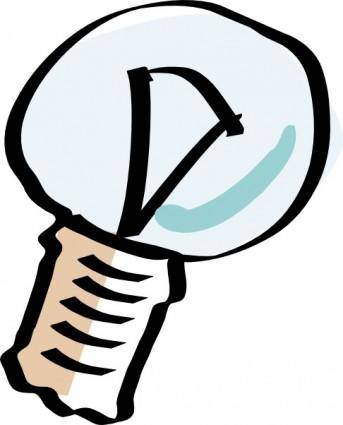 Cartoon Light Bulb clip art