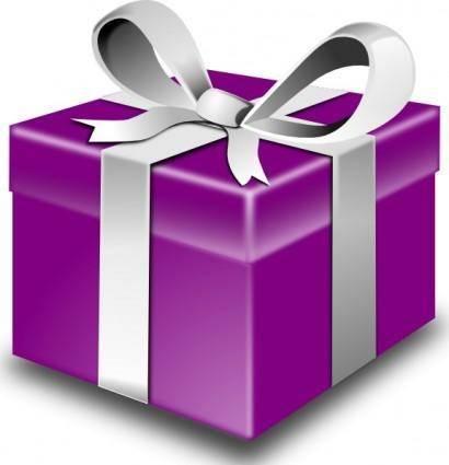 free vector Secretlondon Purple Present clip art
