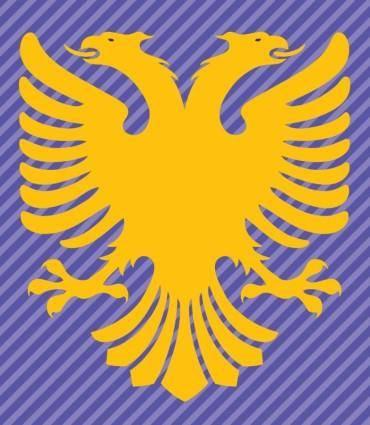 free vector Albania Flag Double Headed Eagle