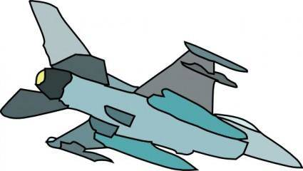 free vector Military Fighter Plane clip art