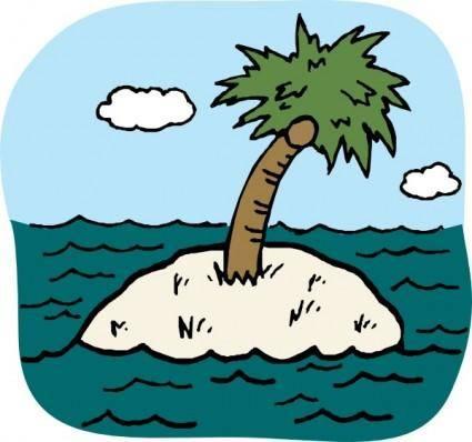 Desert Isle clip art