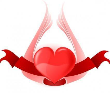 free vector Heart With Wings clip art