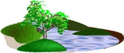 free vector Simple Scenery clip art