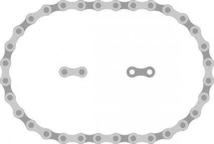 Thav Bike Chain Links clip art