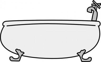 free vector Bathtub clip art