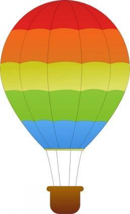 Maidis Horizontal Striped Hot Air Balloons clip art