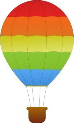 Maidis Horizontal Striped Hot Air Balloons clip art