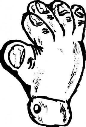 free vector Fat Hand clip art