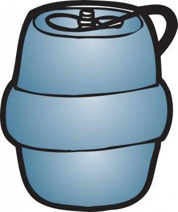 free vector Purple Plastic Keg clip art
