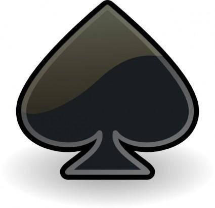 Rocket Emblem Spade clip art