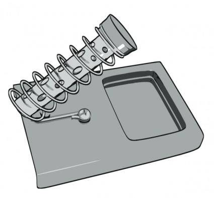 Hexdoll Soldering Iron Stand clip art