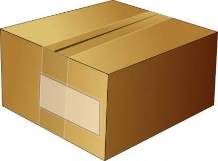 Closed Carton Box clip art