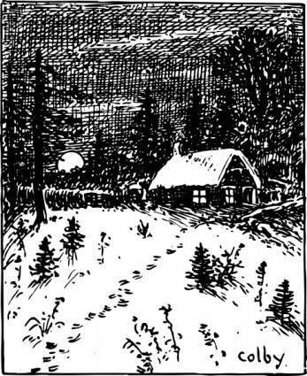 Snow Scene clip art