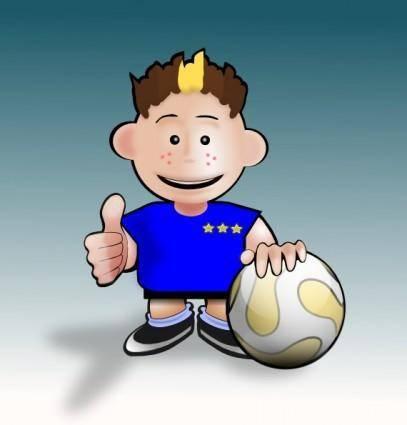Kid Soccer clip art