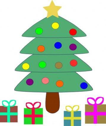 Christmas Tree Gifts clip art