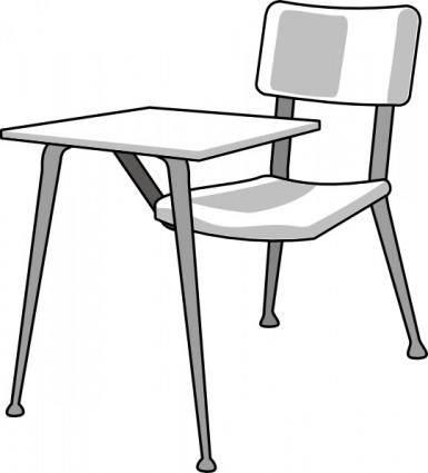 free vector Furniture School Desk clip art