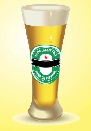 free vector Large Beer