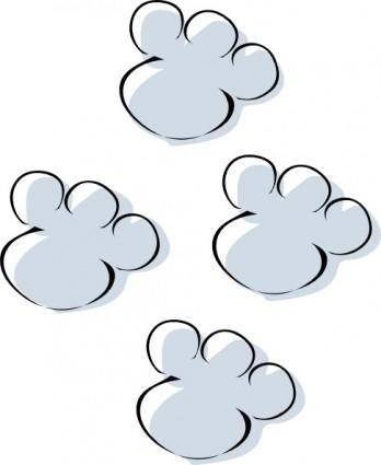 free vector Footprints In The Snow clip art