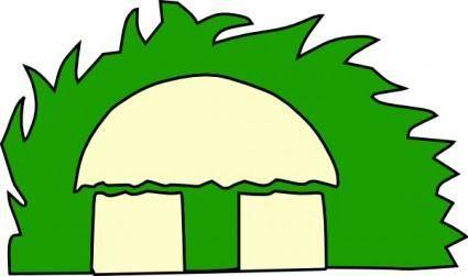 free vector Small Building Shed Dome clip art