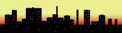Skyline Cityscape Sky Scrapers clip art