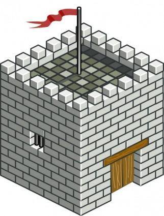 Castle Tower Isometric clip art