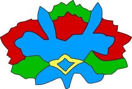 Colorful Decorative Flower clip art