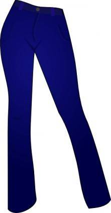 Women Clothing Blue Jeans clip art