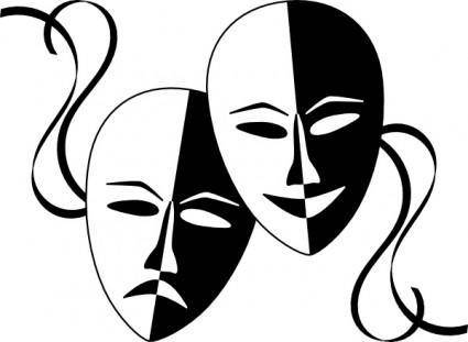 free vector Wasat Theatre Masks clip art