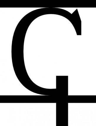 free vector Letter Alphabet Black clip art