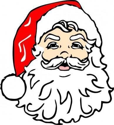 Classic Santa clip art