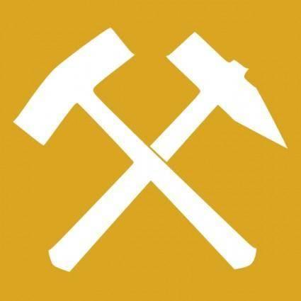 free vector Schlaegel Und Eisen Yellow clip art