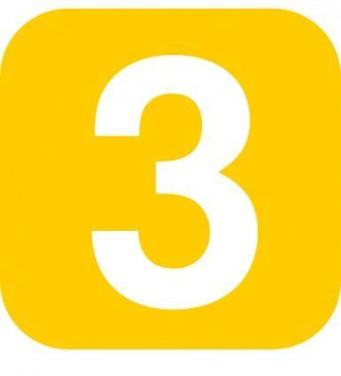 Number In Yellow Rounded Square clip art