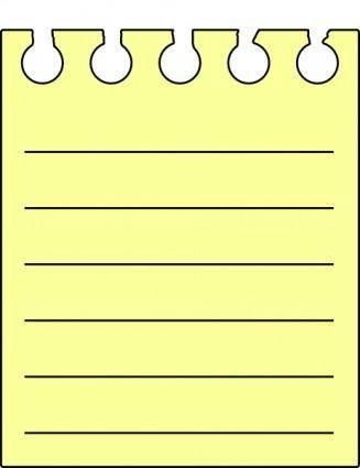 Note Pad clip art