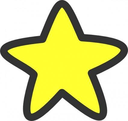 free vector Star Soft Edges clip art
