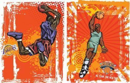 Vector basketball trend