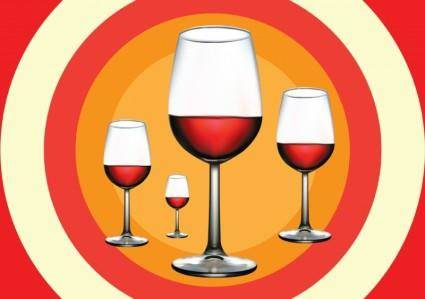 free vector Red Wine Illustration