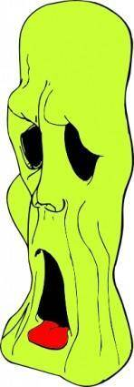 Ghoul Head clip art